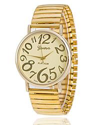 Mulheres Relógio de Moda Quartz Aço Inoxidável Banda Relógio de Pulso / pulseira Dourada