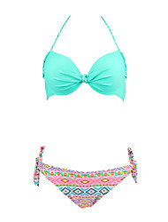 Womens Vintage Elegant Halter Push Up Bikini