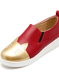Women's Shoes Pigskin / Leather / Leather / Patent Leather Flat Skate Shoes / Comfort / Jelly / Styles / Pointed Toe /