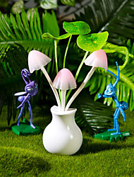 Valentine'S Day Gift Cartoon Light-Operated flower vase Dream Mushroom Table Lamp Light Led