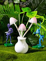 jour caricature cadeau vase rêve champignons lampe de table de lumière exploité la lumière de valentine conduit
