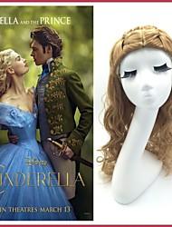 moda Cinderella qualidade superior cosplay perucas cor loira
