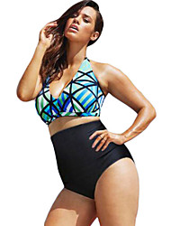 Women's  The Diva Beach Glass Plus Size High Waist Bikini