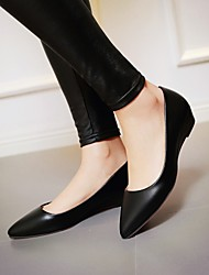 Women's Spring Summer Fall Leatherette Outdoor Office & Career Casual Low Heel Others Black Green Pink White
