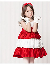 Girl's Black/Green/Red/Gray Dress,Bow/ Dresswear Polyester All Seasons Cake Dresses for Evening Party for 2~7 years