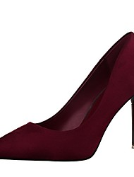 Women's Shoes Velvet Stiletto Heel Heels Heels Wedding / Dress Black / Pink / Red / Gray / Burgundy