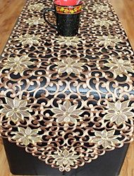 Multi-Purpose  Tablecloth With Size 40x220cm/15x86inch With More Embroidery amd Cutting flower by hand