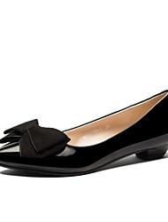 Zapatos de mujer - Tacón Bajo - Comfort - Planos - Oficina y Trabajo / Vestido / Casual - Semicuero - Negro / Rojo