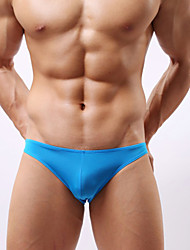 Men's fashion sexy silk waist transparent briefs