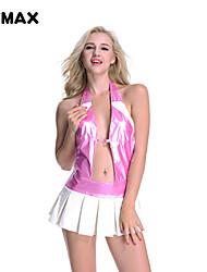 mini vestido mojado xfmax nuevo atractivo rubor de tenis de aquí de imitación de cuero de color rosa club del cóctel