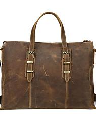 Formal / Casual / Oficina y Trabajo / De Compras - Bolso de Hombro / Tote / Cross Body Bag - Piel de Vaca - Marrón - Unisex