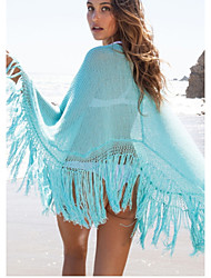 Women's Bandeau Cover-Ups , Solid One-Pieces Polyester Multi-color