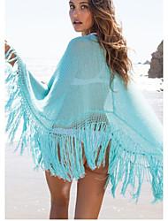 Robes Légères Aux femmes Couleur Pleine Une-Pièce Bandeau Polyester