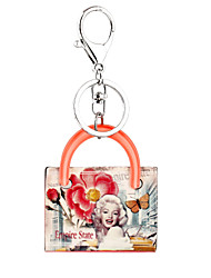 Female Key Chain Character Marilyn Monroe Acrylic Keychain Women Bag Charm Clothing Accessories Car Ornaments