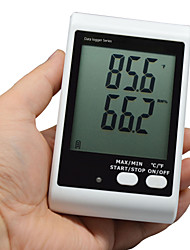 BSIDE BTHAI01 Tempereature Humidity Data Logger With Large Display And Sound Light Alarm(short Probe)with Sms Alarm
