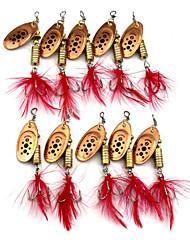 """10pcs pcs Leurre Buzzbait & Spinnerbait Couleurs assorties 10g g/3/8 Once,75mm mm/3"""" pouce,Métal Pêche au leurre"""