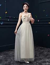 Ankle-length Crepe Bridesmaid Dress - Ruby / Lavender / Pearl Pink / Clover / White / Champagne A-line Sweetheart