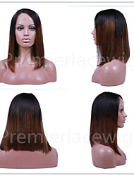2016 Premier Newly Ciara Style Affordable Natural Looking Lace Front Wigs Side Part Long Bob #1b/30 Wigs For Black Women