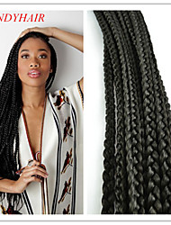2Pack/Lot Crochet  Box Braid 100% Kanekalon  Fiber Synthetic Braid Extension