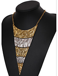 MPL  European and American popular retro geometric triangle multilayer Necklace