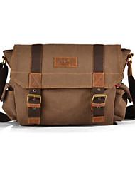 Mens Vintage Canvas Messenger Bag Travel Military Handbag Shoulder Book Bag