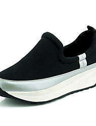 Scarpe Donna - Sneakers alla moda - Tempo libero / Ufficio e lavoro / Casual - Punta arrotondata - Piatto - Tessuto - Nero / Argento