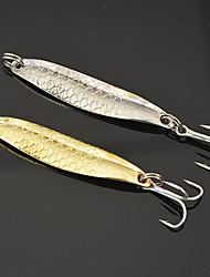 """5 pcs leurres de pêche Leurre Buzzbait & Spinnerbait Couleurs assorties g/Once,55mm mm/2-1/8"""" pouce,Métal Pêche au leurre"""