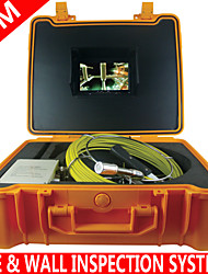 Pipe & Wall Inspection System  30M Video Snake Pipe Wall Sewer Inspection Color LED Camera System