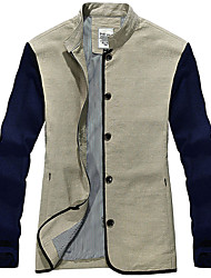 Men's Long Sleeve Jacket , Cotton Casual / Work / Formal / Sport Pure Spring new thin coat
