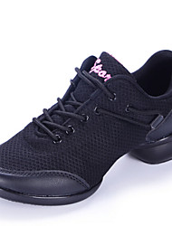Women's Dance Shoes Sneakers Breathable Synthetic Low Heel Black/Grey