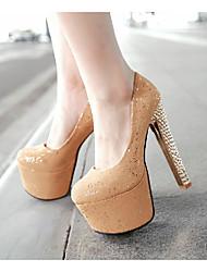 Women's Shoes Heel Heels / Round Toe Heels Wedding / Party & Evening / Dress Yellow / Pink / White/b-33