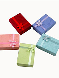 7*9cm Paper Rectangle Jewelry/Gift Packing Box Fit Brithday/Wedding Decoration Fashion Jewelry Box Random Color