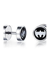 Titanium Steel Bat Earrings
