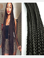 2Pack/Lot 120G/Pcs Crochet  Box Braid 100% Kanekalon  Fiber Synthetic Braid Extension