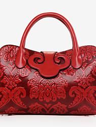 VUITTON Women PU Duffel Shoulder Bag / Tote - Blue / Green / Red