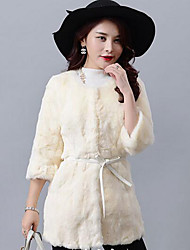 Women Rex Rabbit Fur Outerwear , Lined