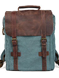 Unisex Cowhide / Canvas Sports / Casual / Outdoor / Office & Career / Shopping Tote / Backpack / Sports & Leisure Bag / Laptop BagGreen /