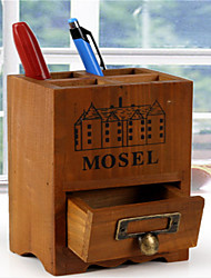 fazer o armários de madeira do vintage caixa de armazenamento caixa de caneta de madeira velha