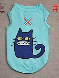 Cat / Dog Shirt / T-Shirt Red / Green / Blue / Pink Dog Clothes Summer Cartoon / Animal Cosplay / Birthday / Fashion