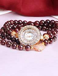 ILvs Garnet Bracelet Gold flash bean quartz waterproof fashion Cool Watches Unique Watches