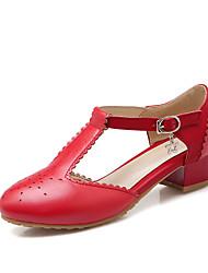 Damen-High Heels-Büro / Kleid / Lässig-PU-Blockabsatz-Komfort-Schwarz / Blau / Rosa / Rot / Beige