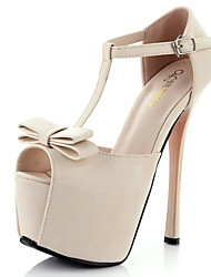 Women's Shoes Stiletto Heel Peep Toe Sandals Dress Pink / White