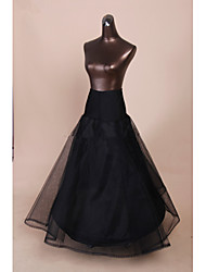 Black Wedding Dress Bridal 1 Hoop  Petticoat Crinoline