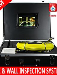 """7 """"80m vidange d'égout système d'inspection serpent pipe pipeline caméra étanche avec 12 LED système d'inspection de pipe avec dvr"""