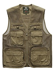 Men Outdoor Waterproof Photography Fishing Casual Vest Wading Climbing Waistcoat Quick-Dry Vest Good Quality