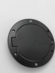 iztoss negro de acero abs cubierta de la tapa del depósito de combustible de gas de 4 puertas 2 puertas ajuste inoxidable para Jeep