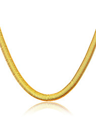 Luxury 18K Gold Plated & Platinum Fashion Jewelry Wholesale Unique Chain Necklace Men/Woman Gift Jewelry N50107
