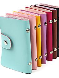 porta cartão de crédito ou de negócio de couro elegante (24 bolso cores sortidas)