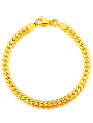 Snake Shaped New Trendy 18K Gold Plated Bracelet Fashion Jewelry Whole 20 CM Stainless Link Chain Bracelets B40058