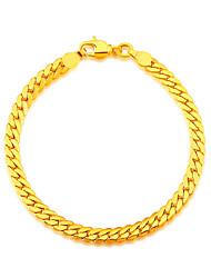 Snake Shaped New Trendy 18K Gold Plated Bracelet Fashion Jewelry Whole 20 CM Stainless Link Chain Bracelets B40058